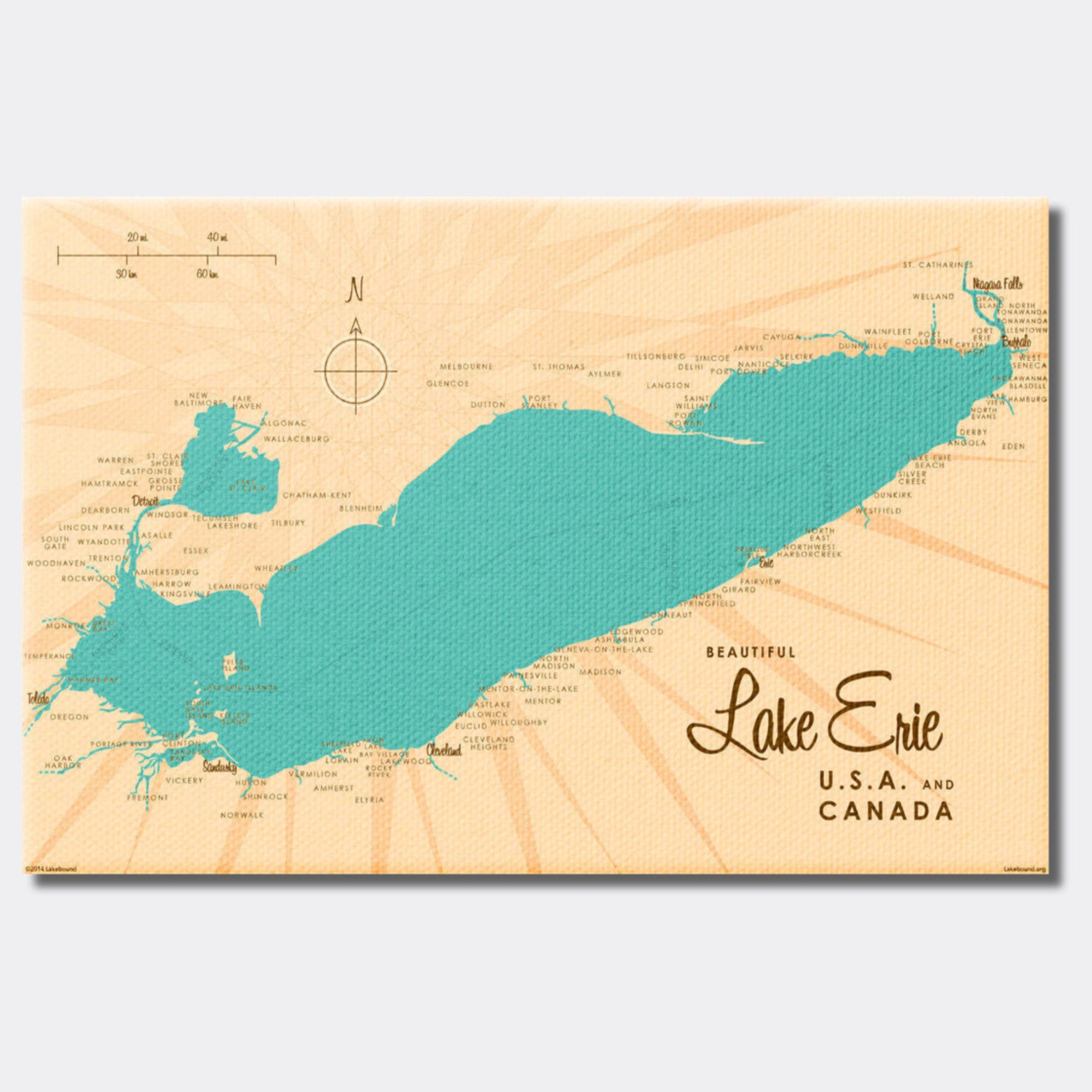 Lake Erie Ohio, Canvas Print