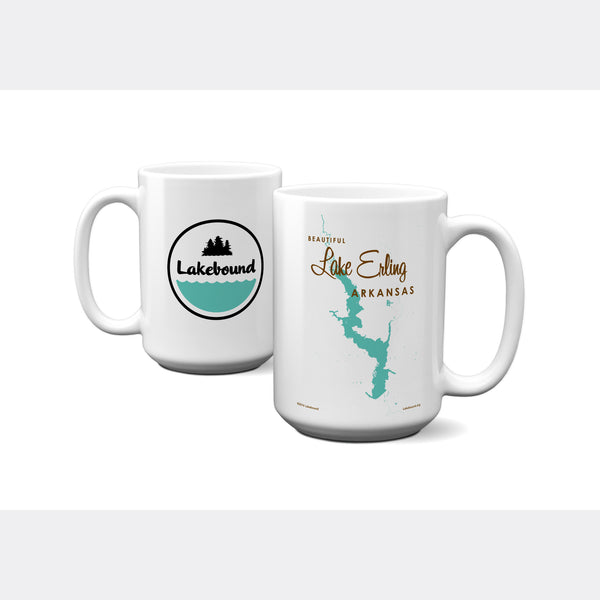 Lake Erling Arkansas, 15oz Mug