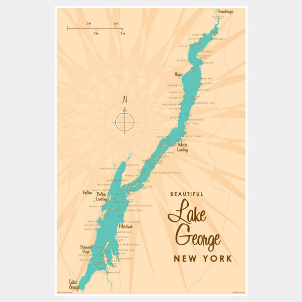 Lake George New York, Paper Print