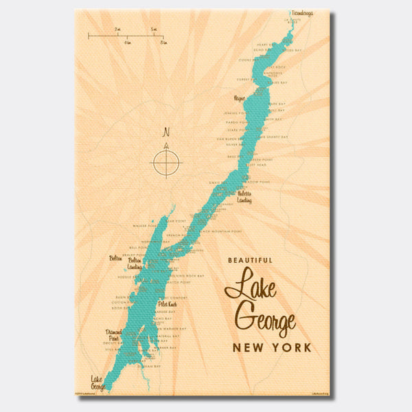 Lake George New York, Canvas Print