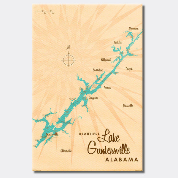 Lake Guntersville Alabama, Canvas Print