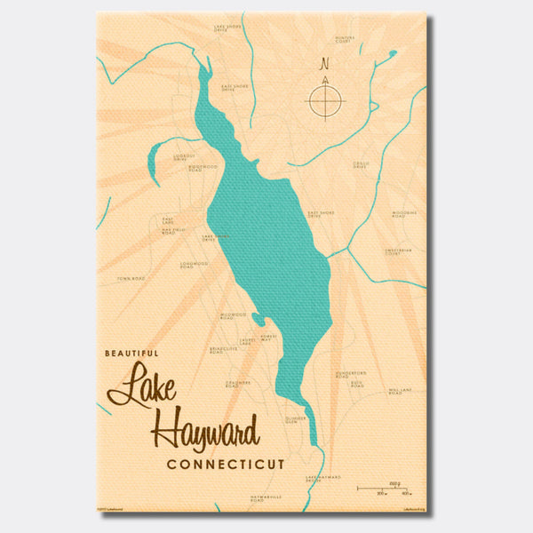Lake Hayward Connecticut, Canvas Print