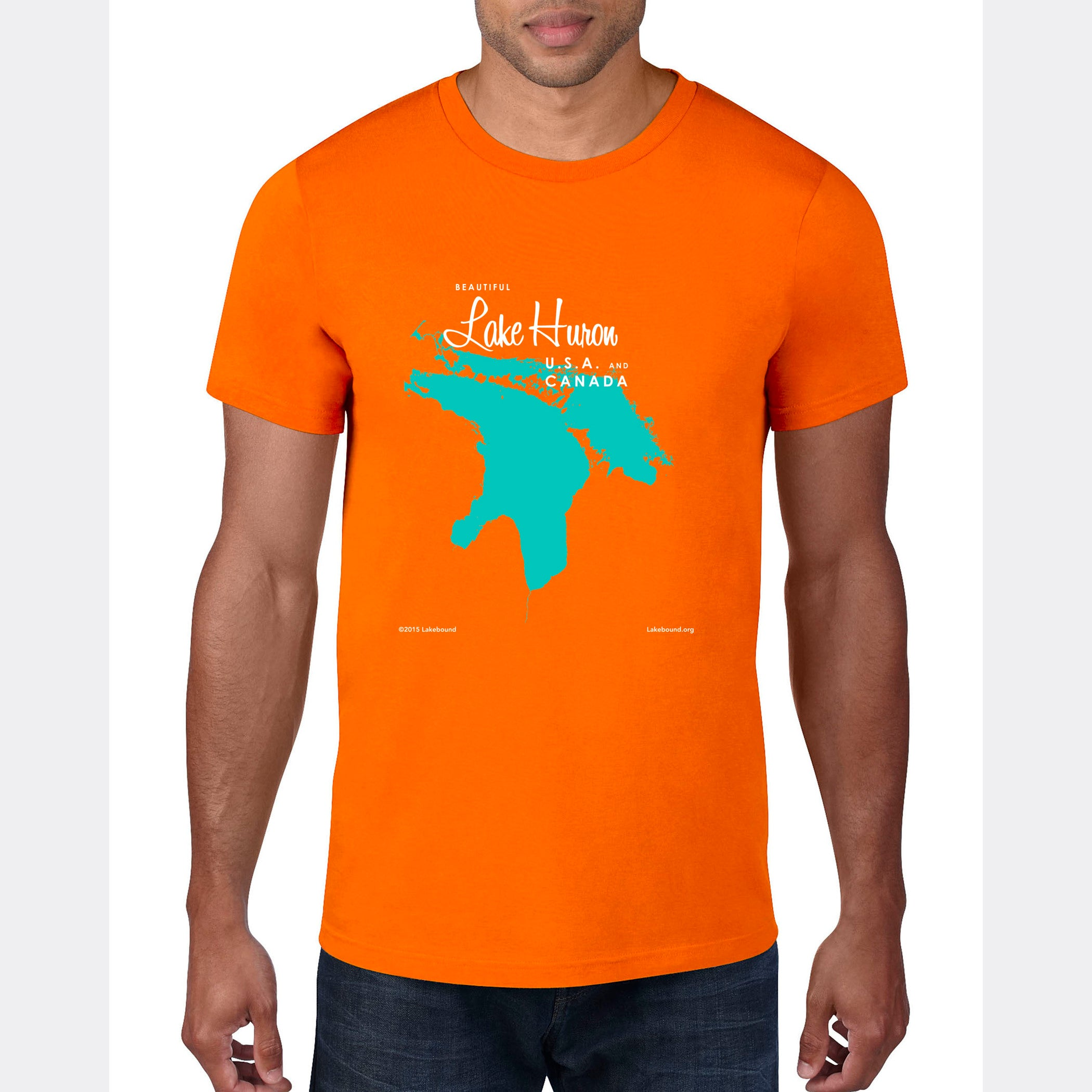 Lake Huron USA Canada, T-Shirt