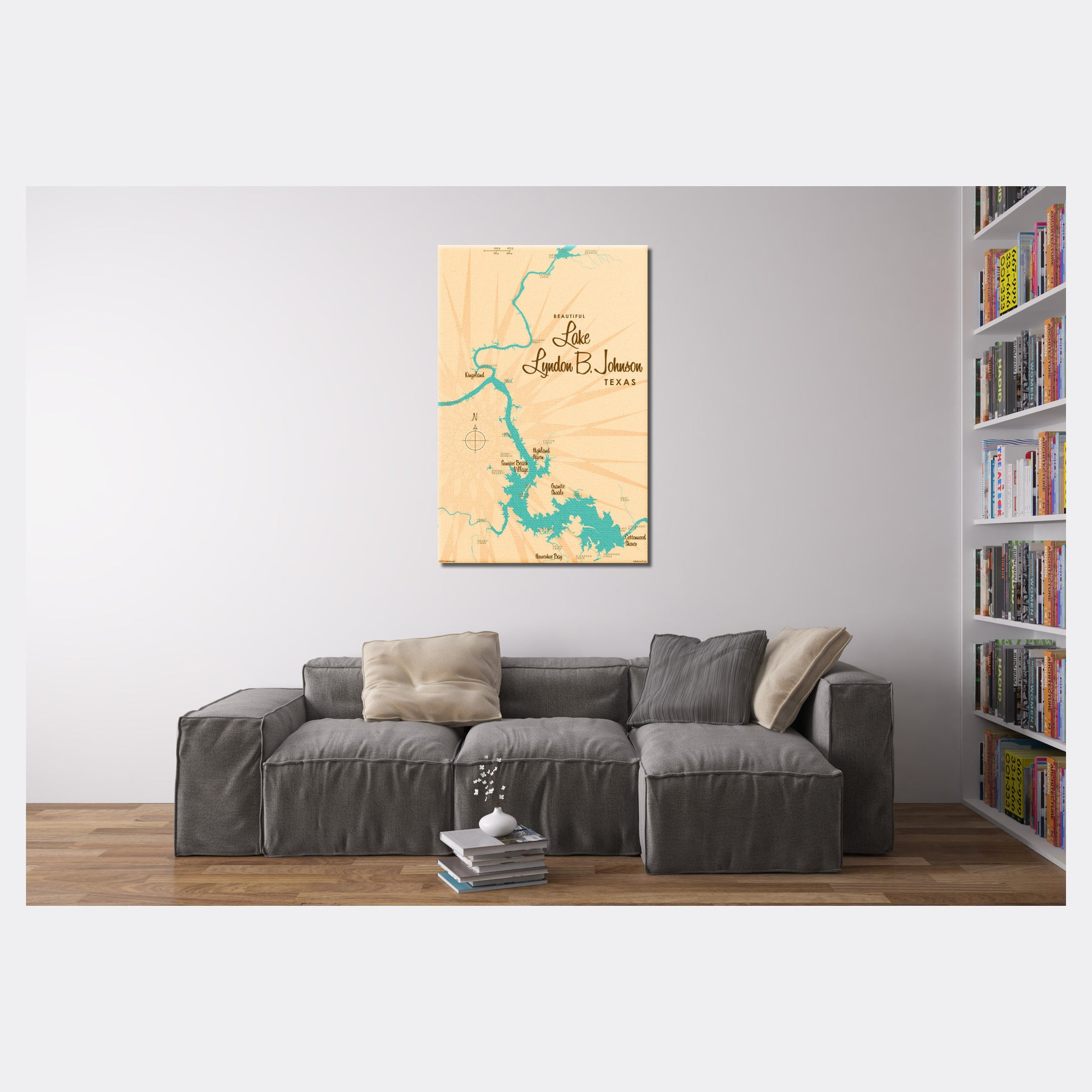 Lake LBJ Texas, Canvas Print