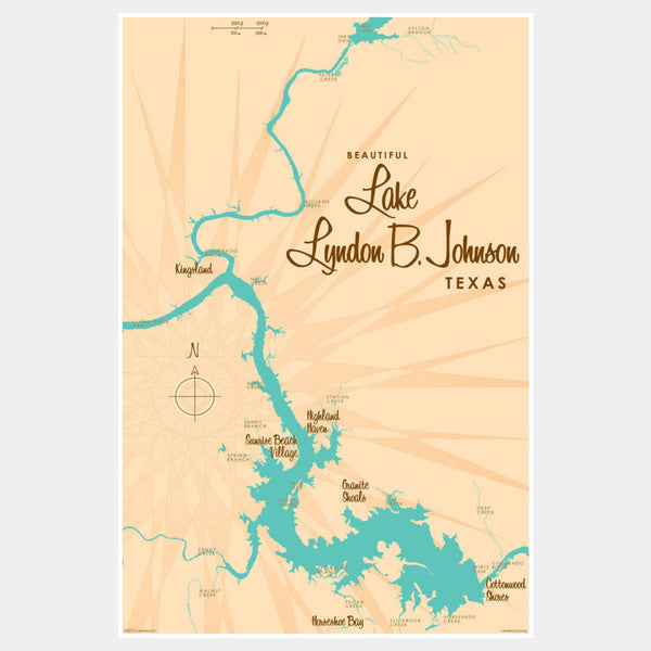 Lake LBJ Texas, Paper Print