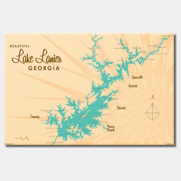 Lake Lanier Georgia, Canvas Print