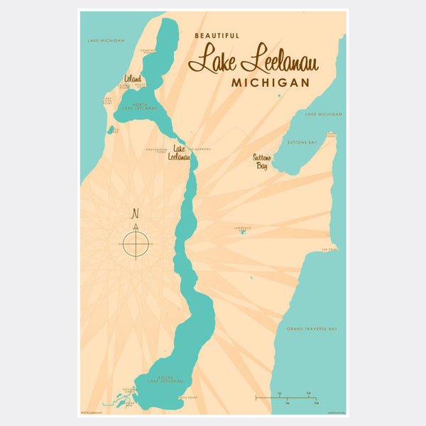 Lake Leelanau Michigan, Paper Print