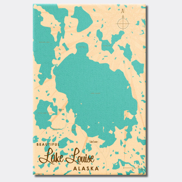 Lake Louise Alaska, Canvas Print