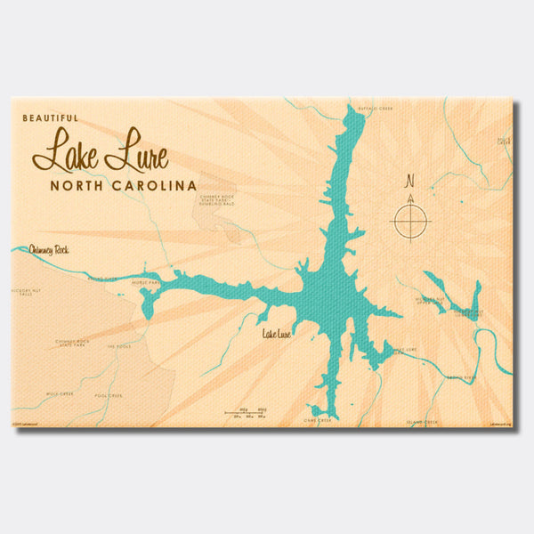 Lake Lure North Carolina, Canvas Print