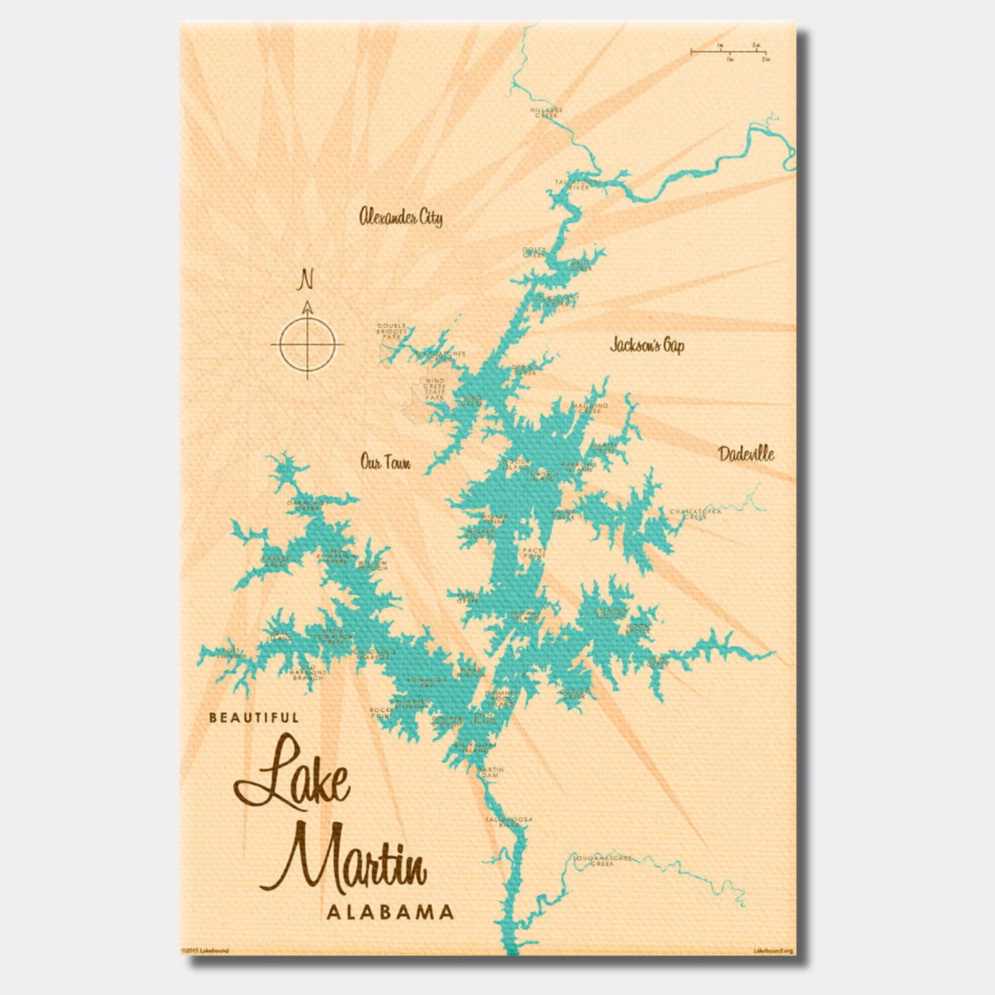 Lake Martin Alabama, Canvas Print