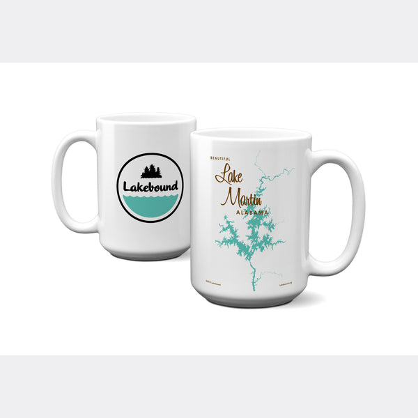 Lake Martin Alabama, 15oz Mug