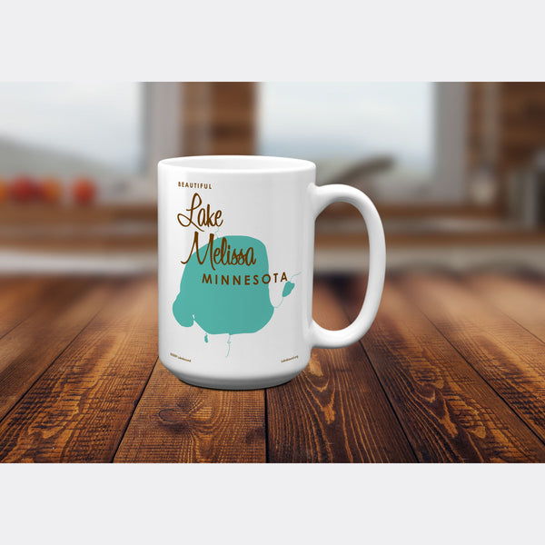 Lake Melissa Minnesota, 15oz Mug