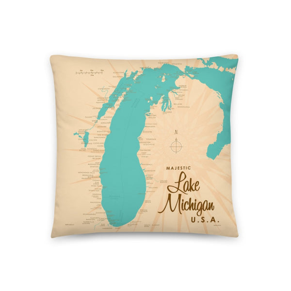 Lake Michigan USA Pillow