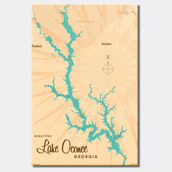 Lake Oconee Georgia, Canvas Print