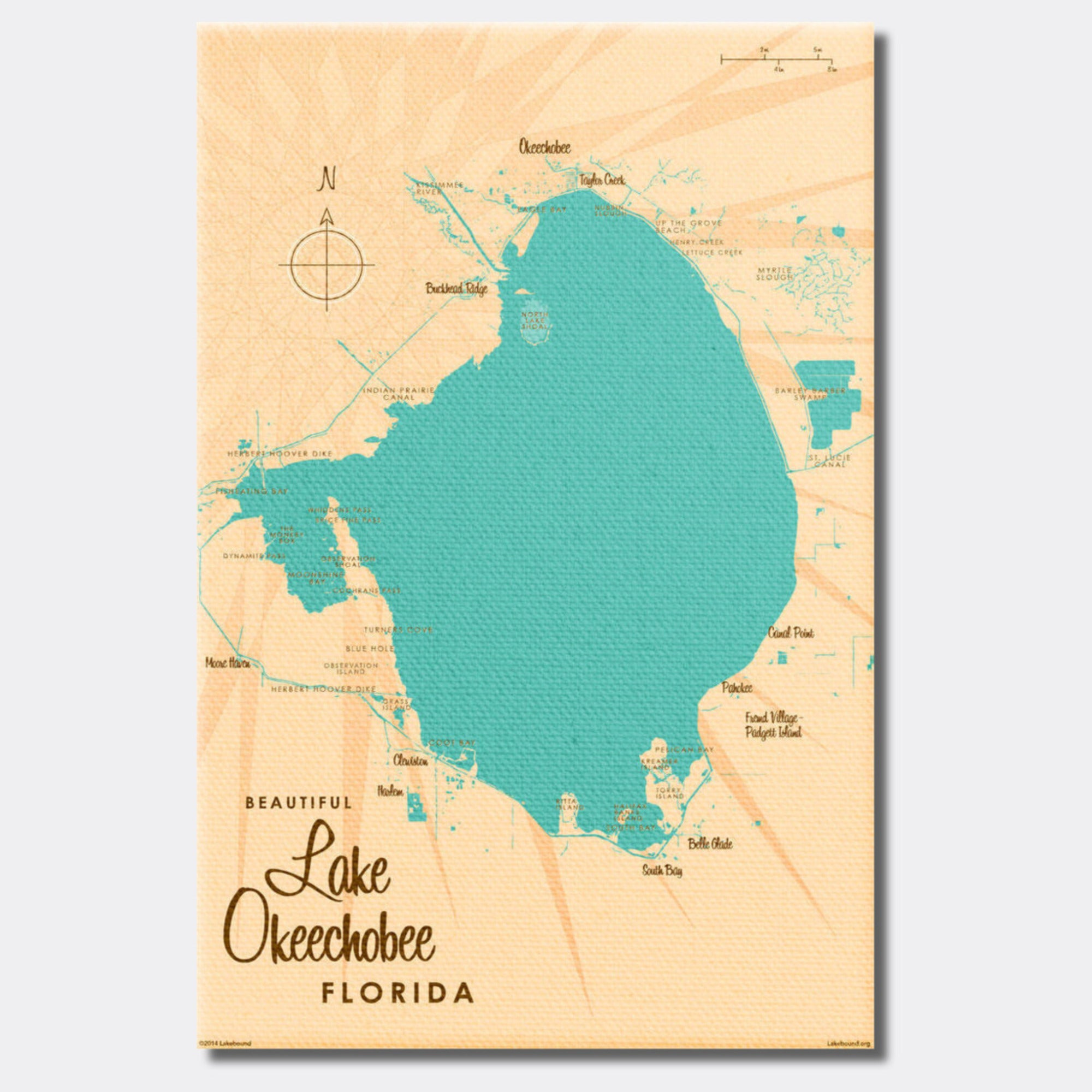 Lake Okeechobee Florida, Canvas Print