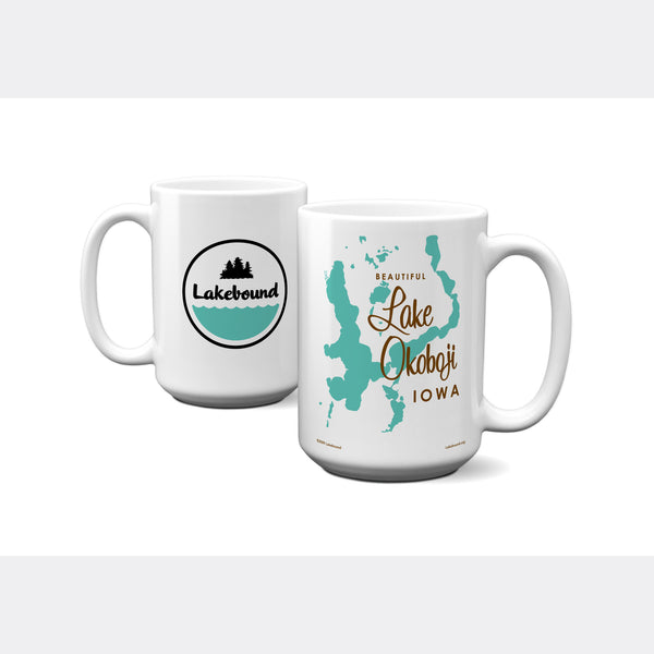 Lake Okoboji Iowa, 15oz Mug
