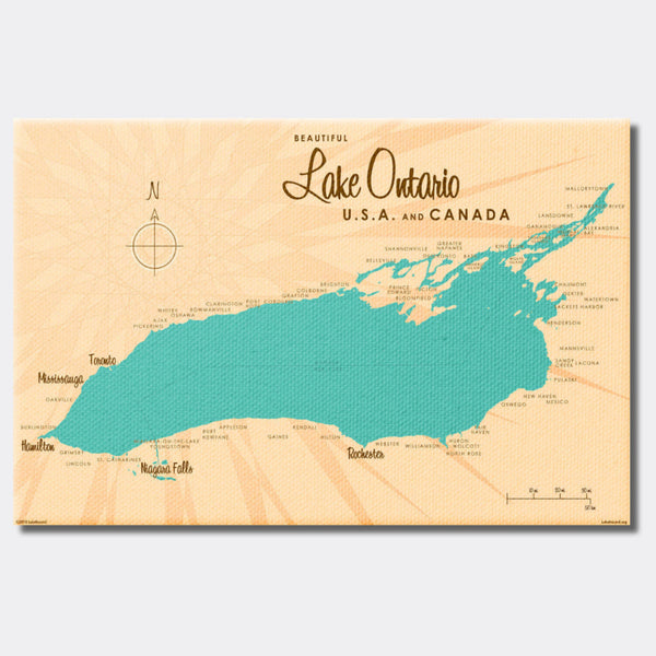 Lake Ontario New York, Canvas Print