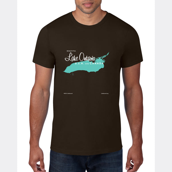 Lake Ontario New York, T-Shirt Map Art
