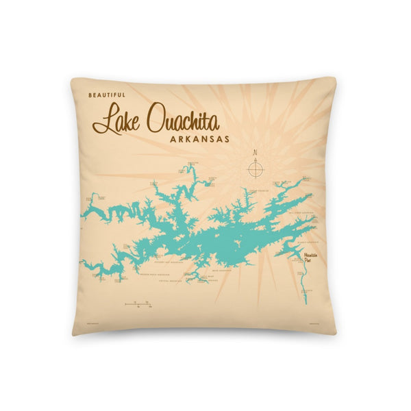 Lake Ouachita Arkansas Pillow