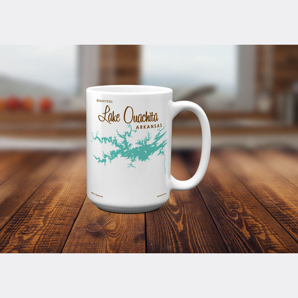 Lake Ouachita Arkansas, 15oz Mug