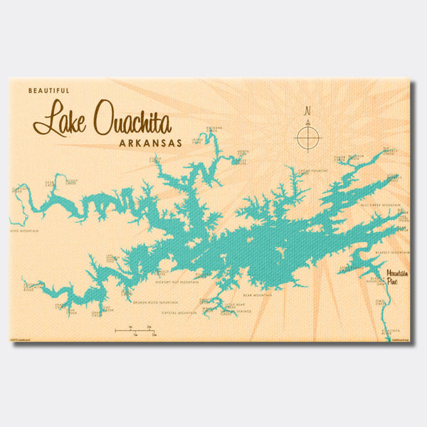 Lake Ouachita Arkansas, Canvas Print