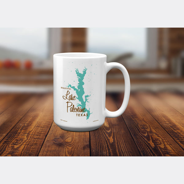 Lake Palestine Texas, 15oz Mug
