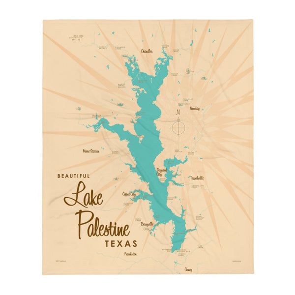 Lake Palestine Texas Throw Blanket
