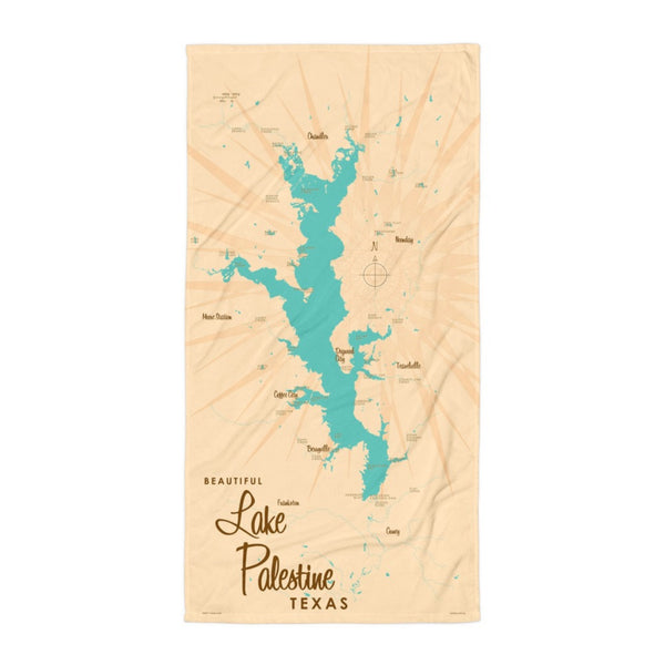 Lake Palestine Texas Beach Towel
