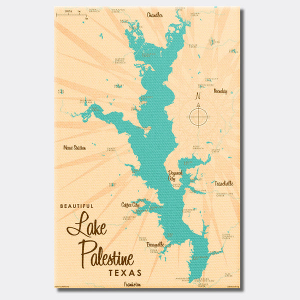 Lake Palestine Texas, Canvas Print