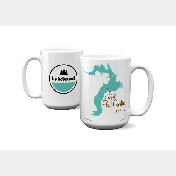 Lake Pend Oreille Idaho, 15oz Mug