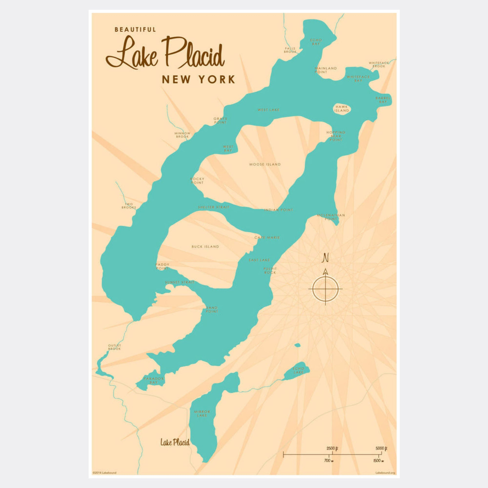 Lake Placid New York, Paper Print