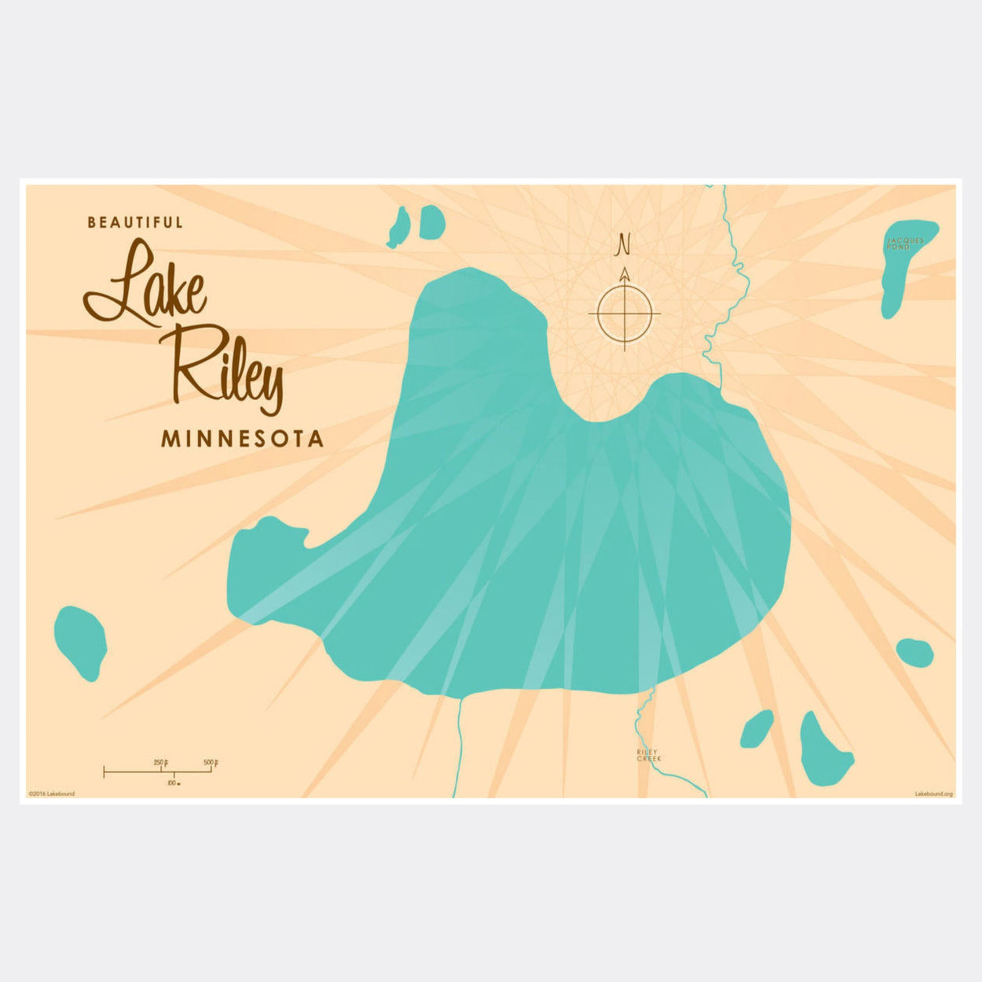 Lake Riley Minnesota, Paper Print