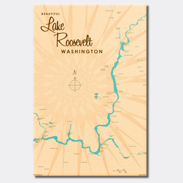 Lake Roosevelt Washington, Canvas Print