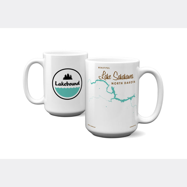 Lake Sakakawea North Dakota, 15oz Mug