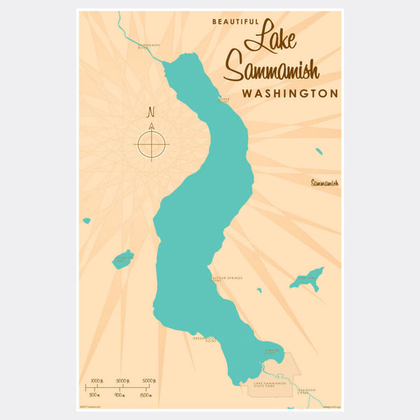 Lake Sammamish Washington, Paper Print