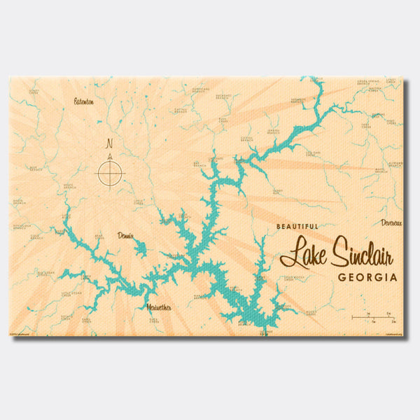 Lake Sinclair Georgia, Canvas Print