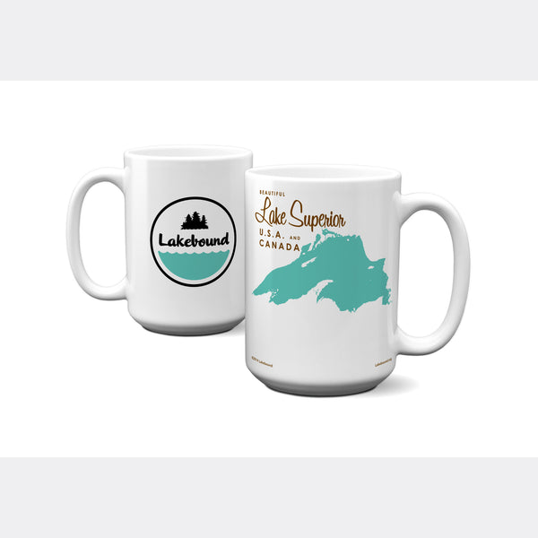 Lake Superior Michigan, 15oz Mug