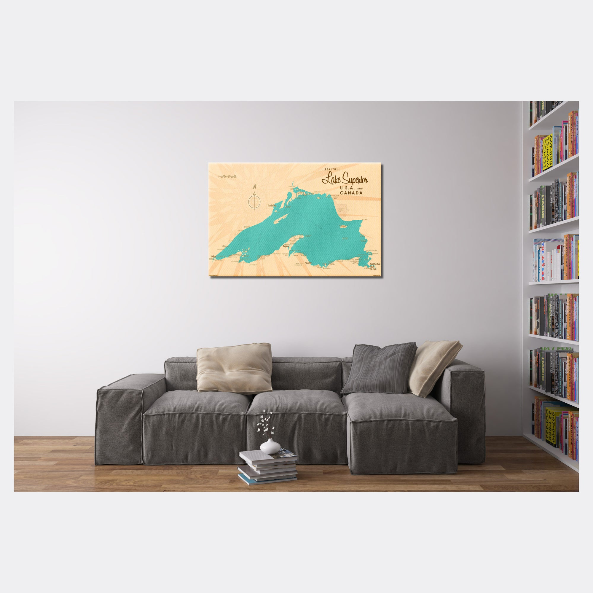 Lake Superior Michigan, Canvas Print