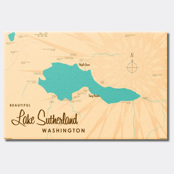 Lake Sutherland Washington, Canvas Print