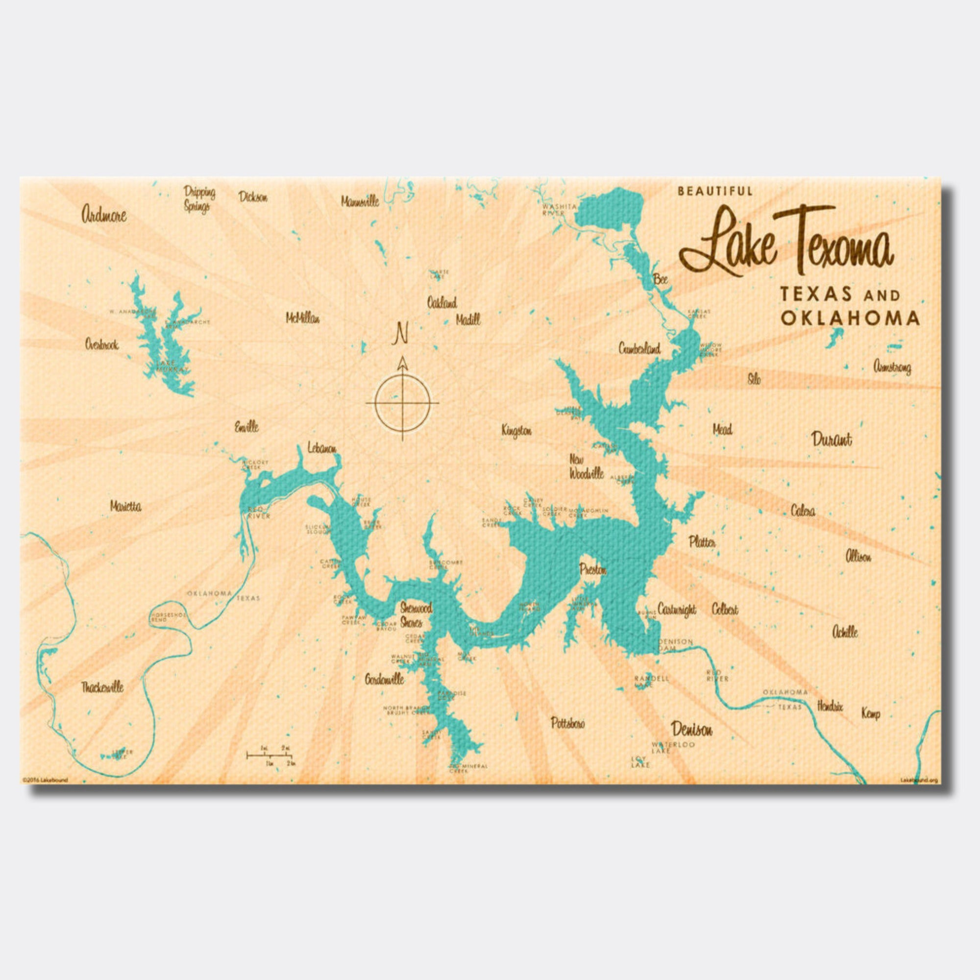 Lake Texoma TX Oklahoma, Canvas Print