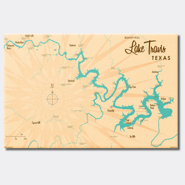 Lake Travis Texas, Canvas Print