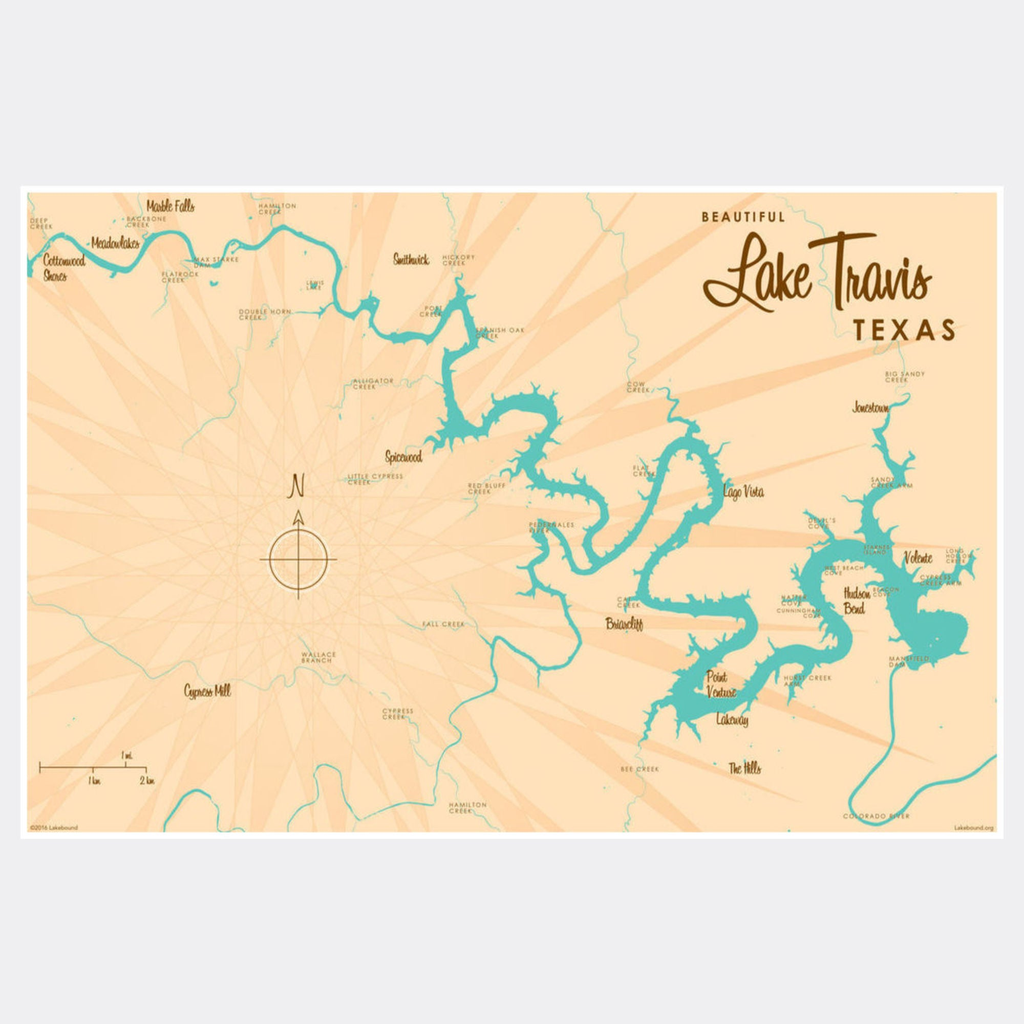 Lake Travis Texas, Paper Print