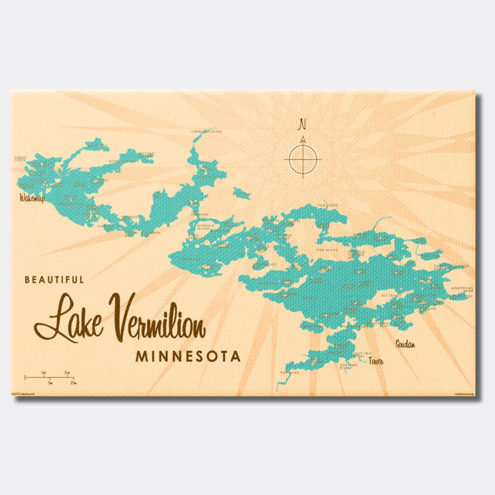 Lake Vermilion Minnesota, Canvas Print