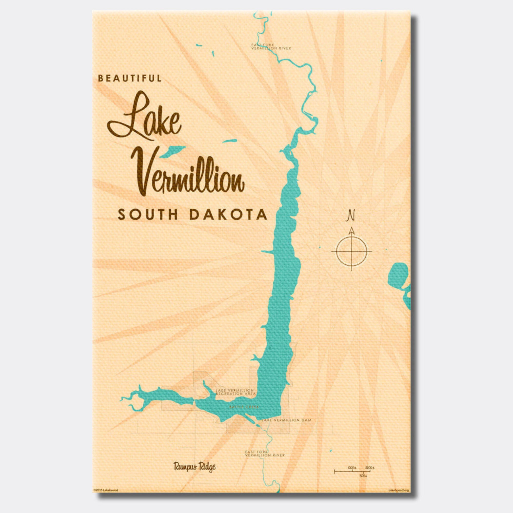 Lake Vermillion South Dakota, Canvas Print