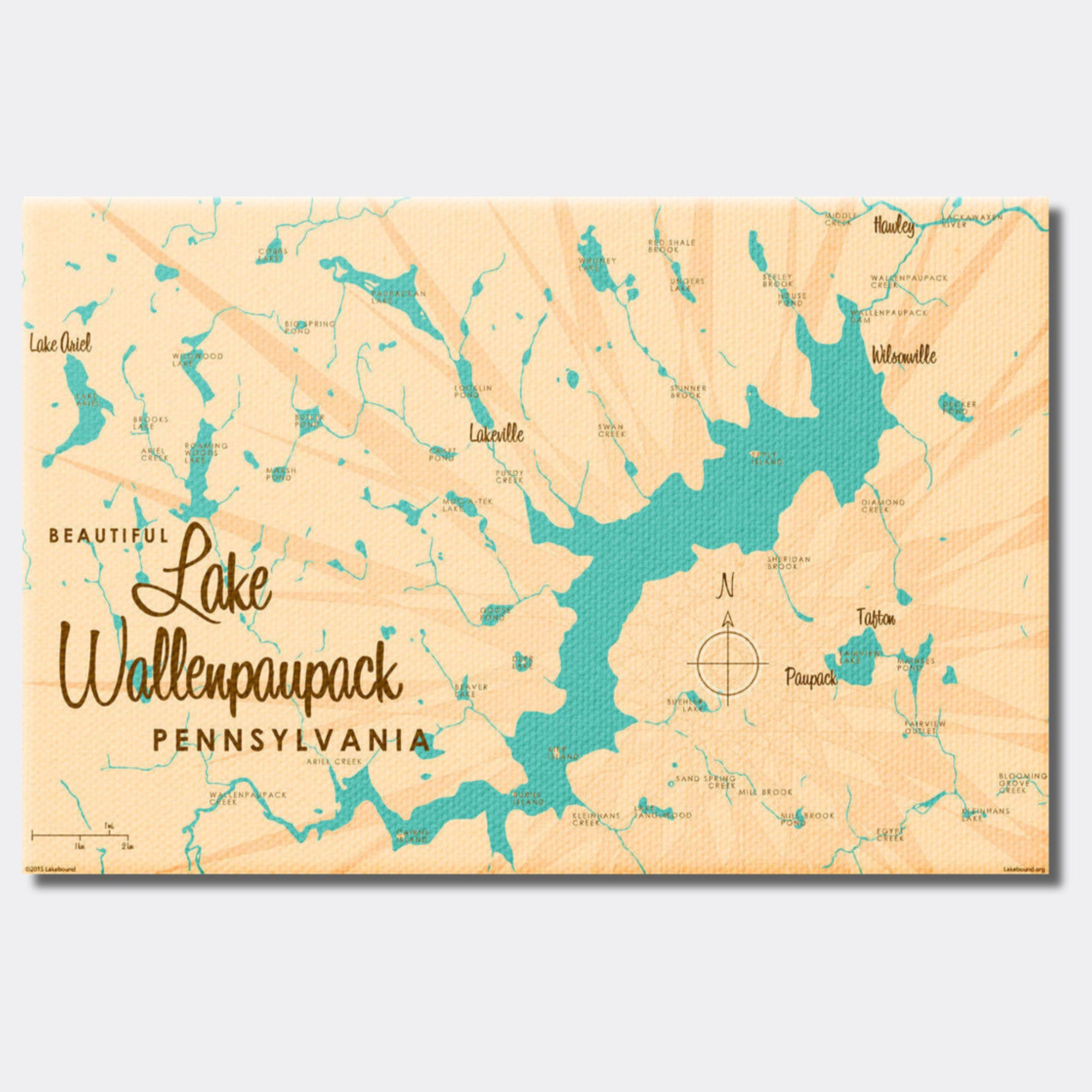 Lake Wallenpaupack Pennsylvania, Canvas Print