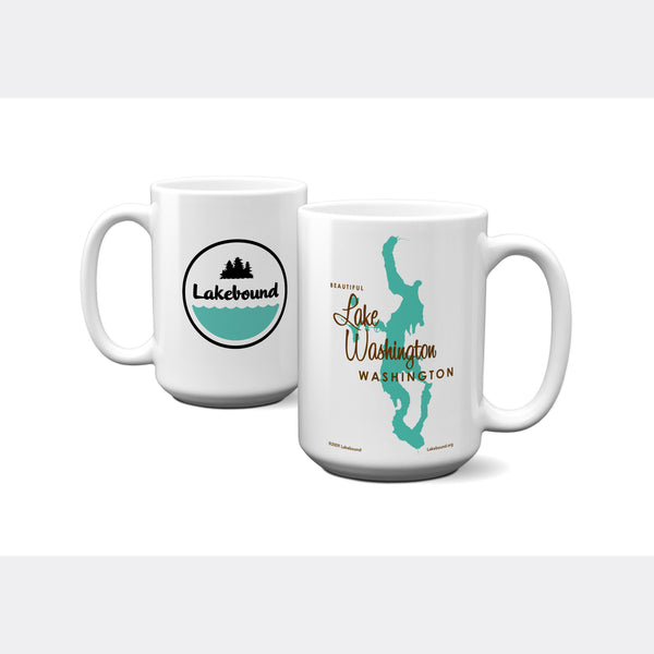 Lake Washington Washington, 15oz Mug