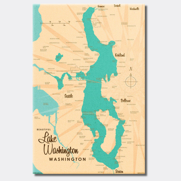 Lake Washington Washington, Canvas Print