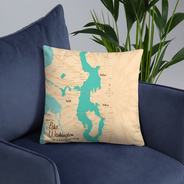 Lake Washington Washington Pillow