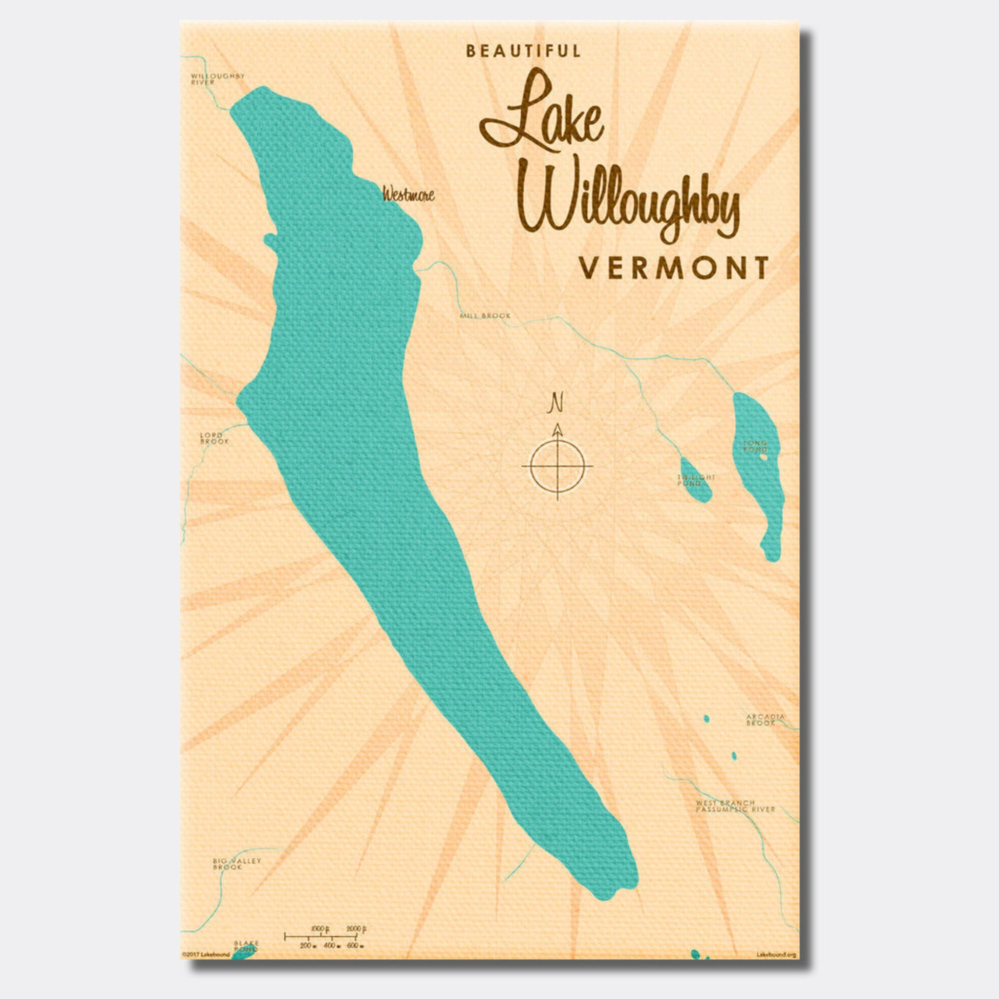Lake Willoughby Vermont, Canvas Print