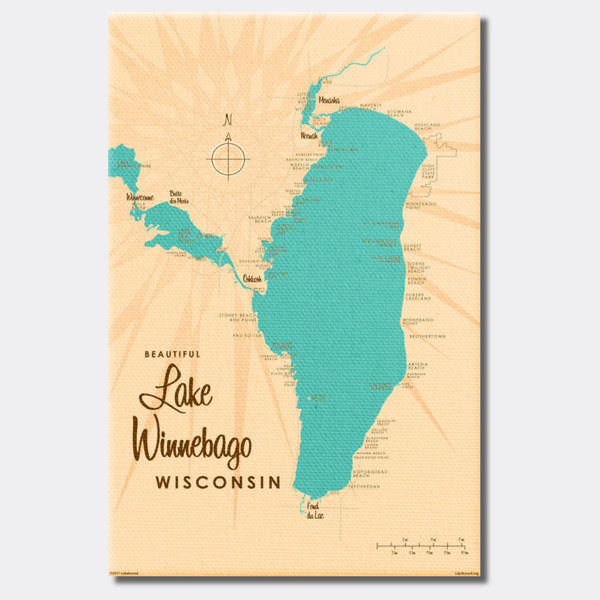 Lake Winnebago Wisconsin, Canvas Print